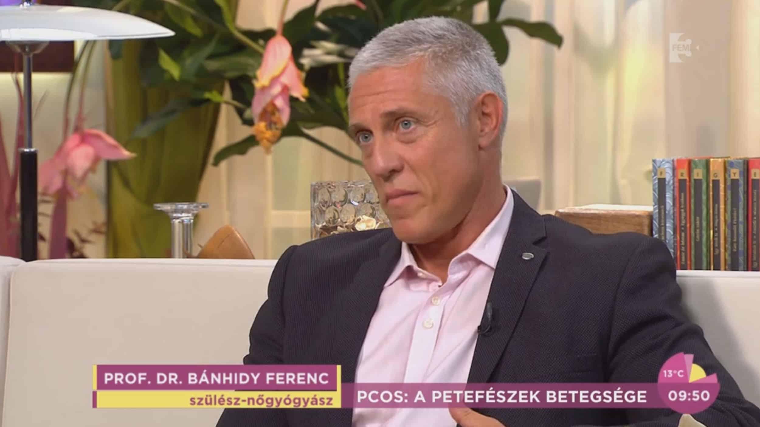 Prof. Dr. Bánhidy Ferenc, a FEM3 Café szakértő vendége válaszolt a nézők kérdéseire a PCOS szindrómával kapcsolatban